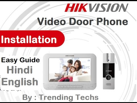 Hikvision Video Door Phone Installation Youtube