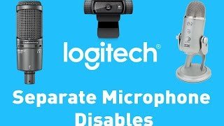 Logitech Cam 📷 Separate Microphone 🎙 Disables