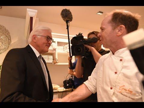 Frank-Walter Steinmeier beim Bäcker