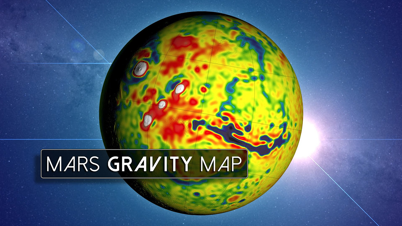New Mars Gravity Map - Us map after planet x