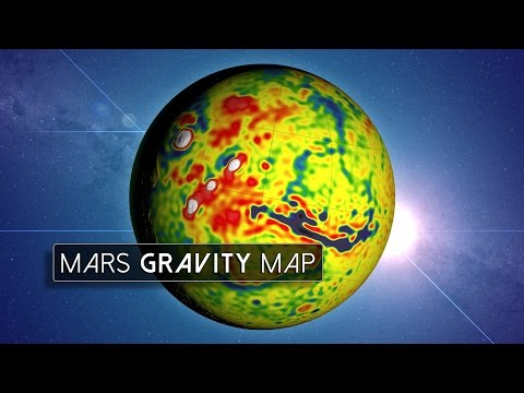 Gravity map reveals how water once flowed on Mars