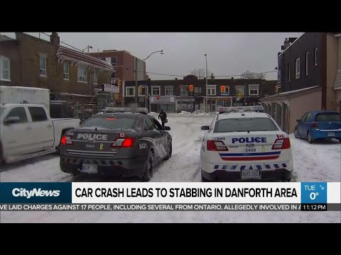 Car Crash Leads To Stabbing In Danforth Area