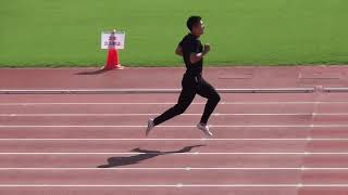 桐生祥秀選手 全日本実業団対抗陸上 ウォーミングアップ