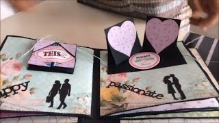 DIY-Anniversary Scrapbook ideas for husband/Handmade love scrapbook  for hubby/ for someone special