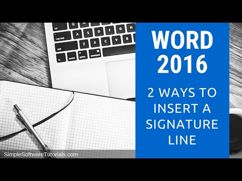 how to put signature in word 2016