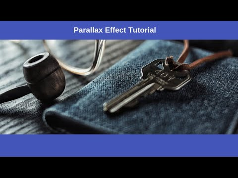 how to create parallax scrolling