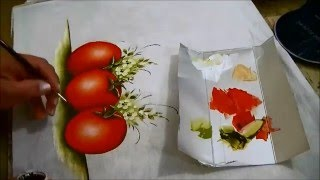 COMO PINTAR TOMATES – HOW TO PAINT TOMATO – parte 3 de 3