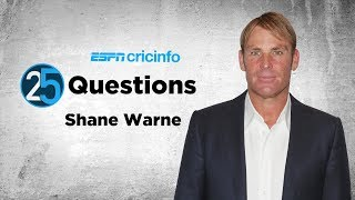 25 Questions with Shane Warne: Dinner with Waugh or Buchanan?