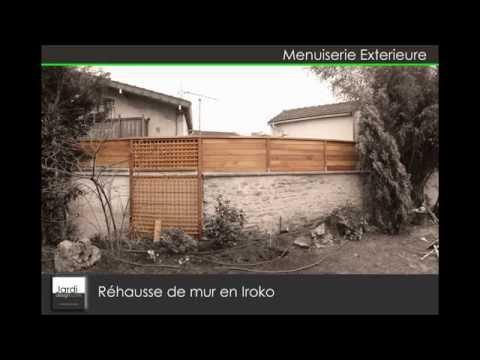 R hausse de mur en iroko youtube - Mur en agglo ...