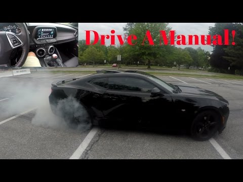 HOW TO DRIVE A STICK SHIFT! | Camaro SS BurnOut |