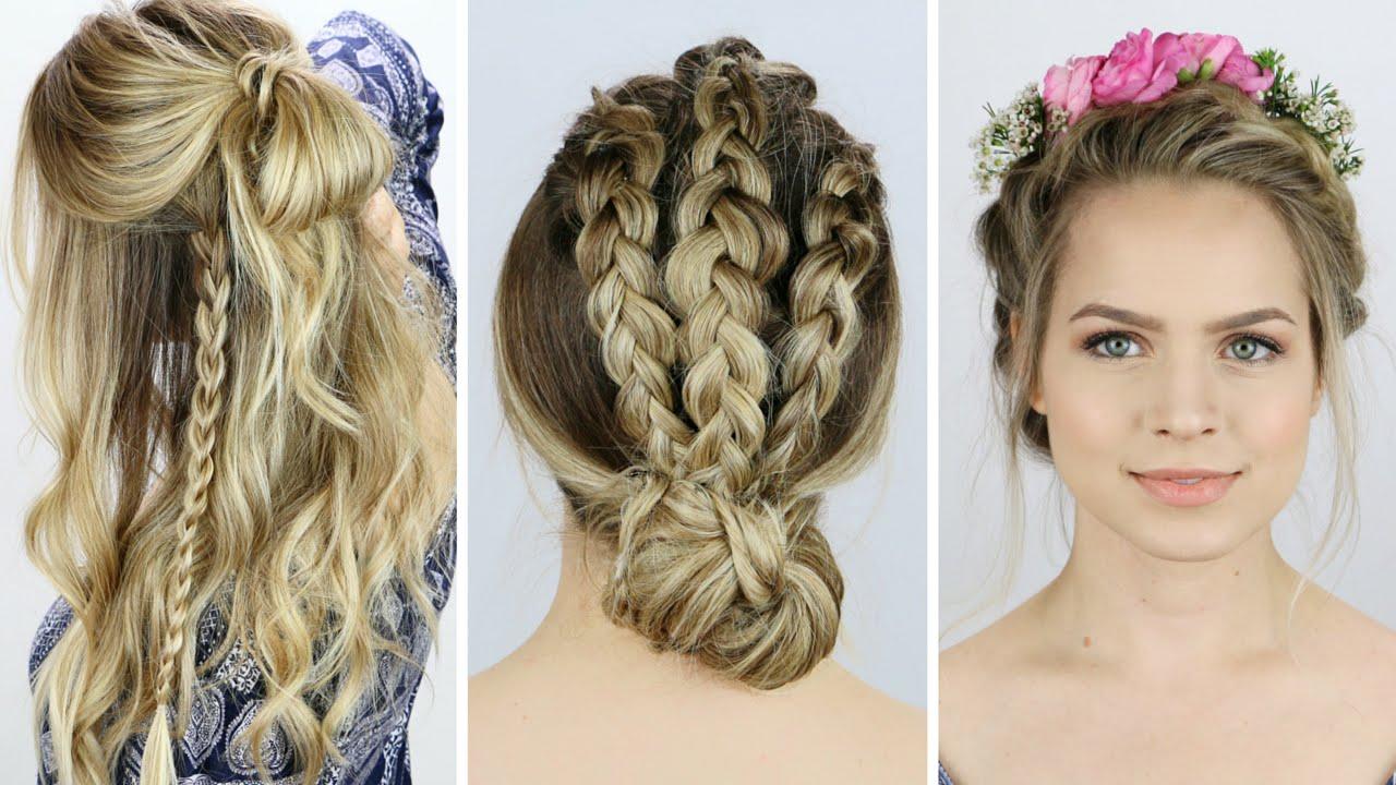 3 Festival Inspired Braids Hair Tutorial YouTube