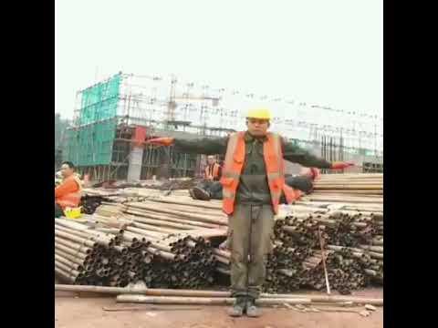 Танцующий строитель.