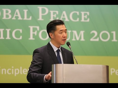 Dr. Hyun Jin Preston Moon Addresses Global Peace Economic Forum 2017