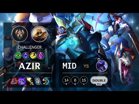 Azir Mid vs Ryze - BR Challenger Patch 10.19