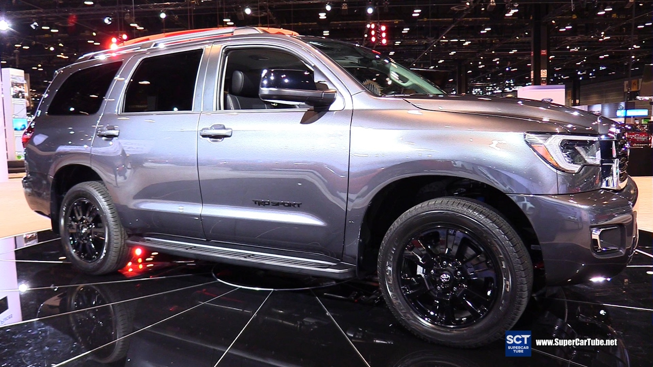 2018 Toyota Sequoia Trd Sport Exterior And Interiot Walkaround Debut At 2017 Chicago Auto Show You