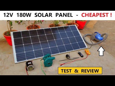12V 180W Solar Panel ( Monocrystalline ) | Full Test & Review with DC Motor