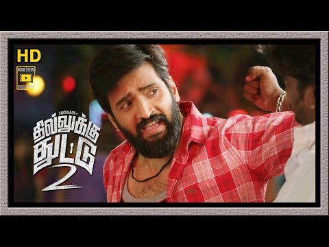 Dhilluku Dhuddu 2 Full Movie | Santhanam Fights With Goons | Santhanam Fight Song