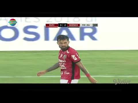 Piala Presiden 2018 : Gol Hattrick Stefano Lilipaly Bali United (3) vs Borneo FC (2)