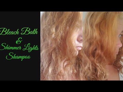 Orange Yellow Hair Bleach Bath Purple Shampoo Youtube