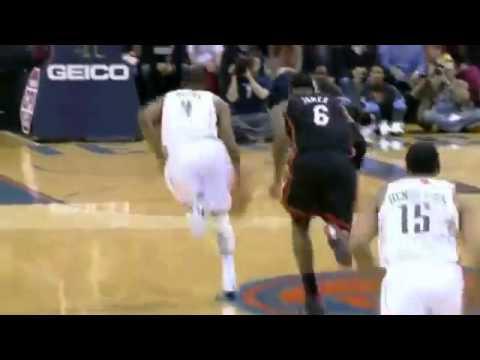 LeBron James Loses Ball But Blocks Derrick Brown