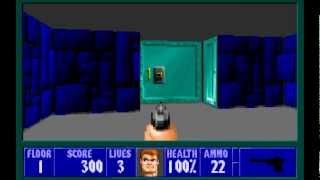 Wolfenstein 3D (id Software) (1992) Episode 1 - Escape From Castle Wolfenstein - Floor 1 [HD]