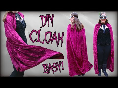 How to Make a Cloak/Cape EASY! | Easy Beginner Halloween Costume | Quick Sewing Project