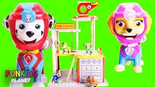 Paw patrol  Fire Station Playset with Fire Trucks