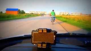 """Велосипед с мотором, тюнинг-2 (дэшка, дырчик, мопед) +замер скорости, +ГИМН ДЭШКИ группа """"БЕНЗИН""""."""