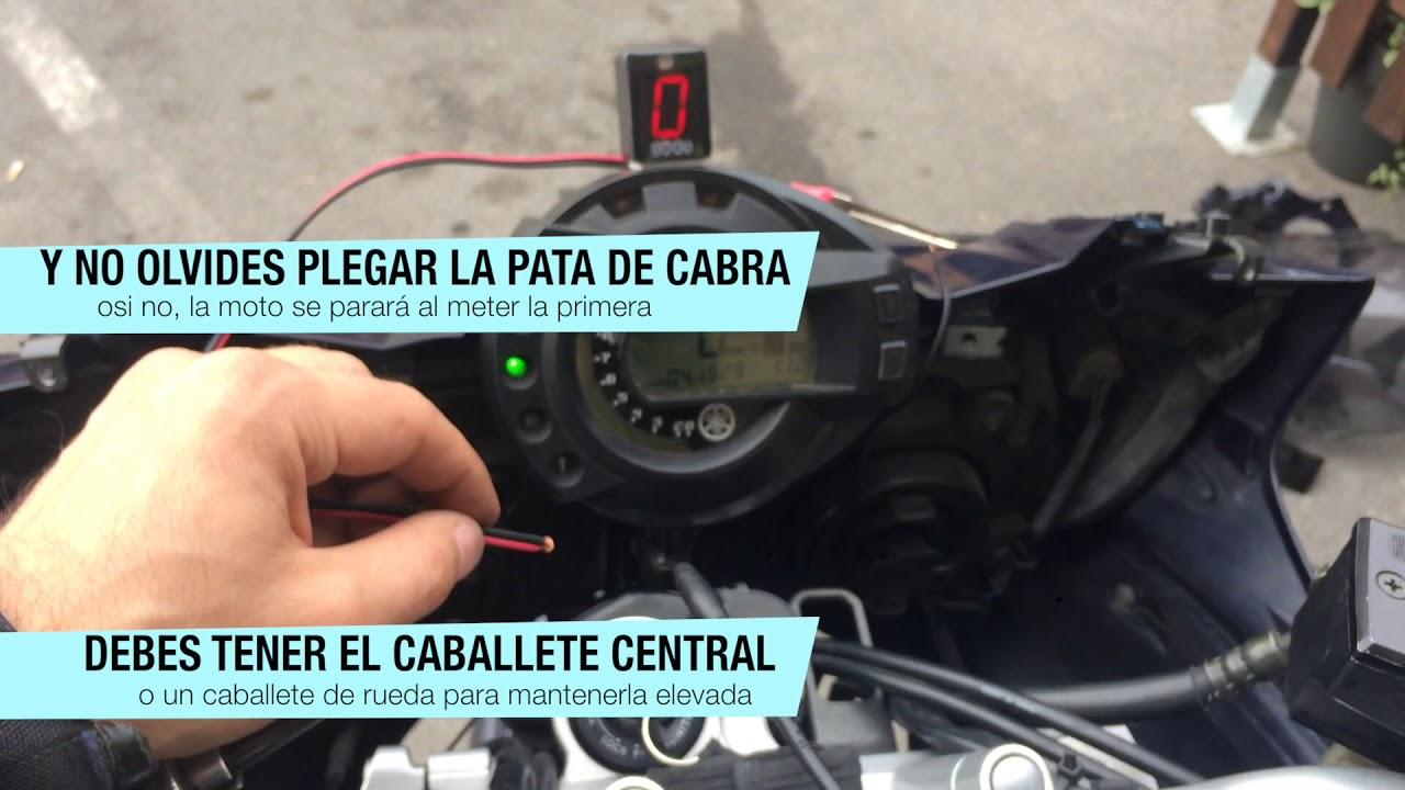 f/ácil de instalar indicador de marcha estable Indicador de marcha de motocicleta motos universales para palanca de cambio