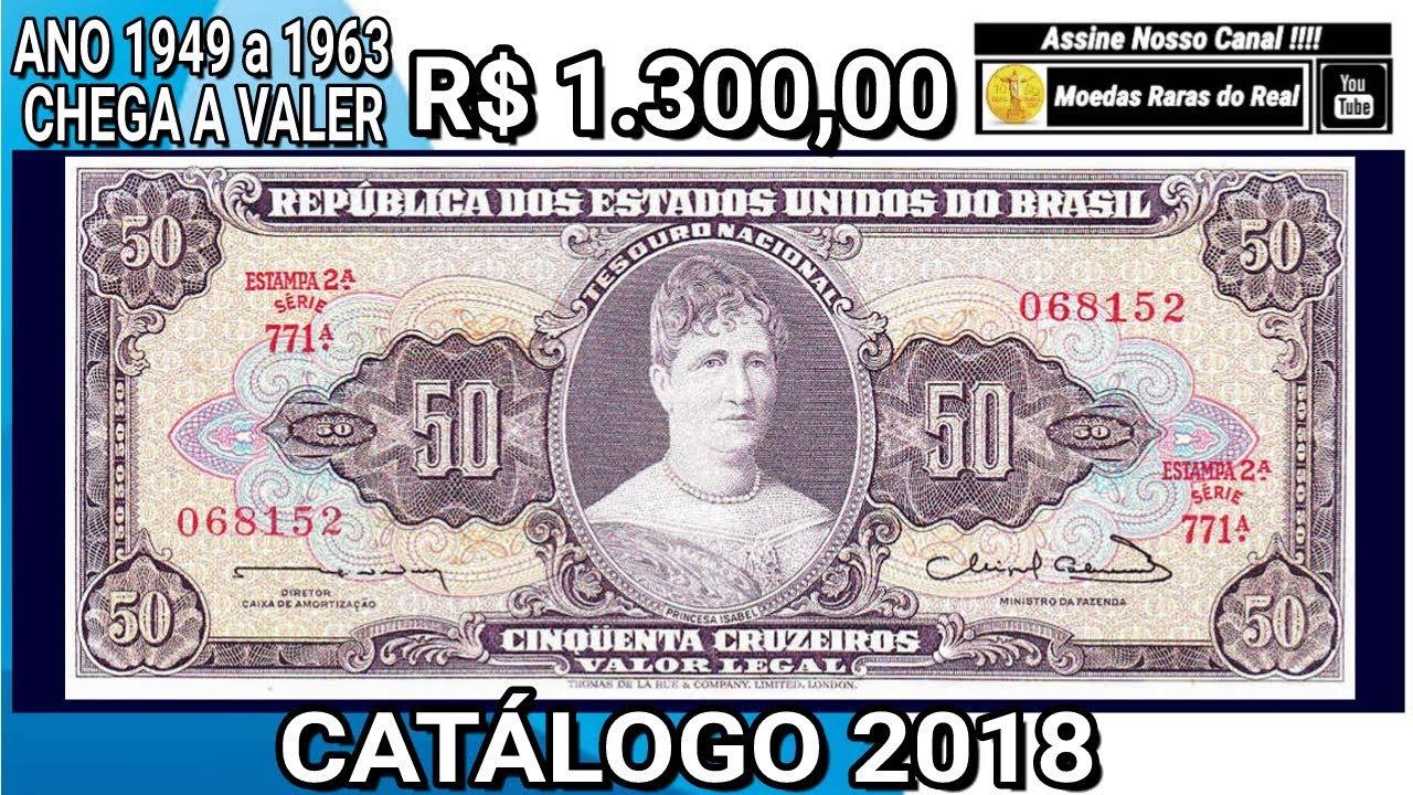 Numismatica Cedula De 50 Cruzeiros 2ª Estampa Valor 2018