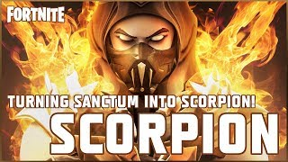 TURNING FORTNITE'S NEW SKIN 'SANCTUM' INTO SCORPION FROM MORTAL KOMBAT *SPEED-ART*