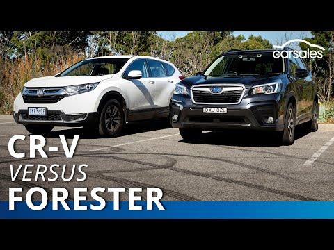 2019 Honda CR-V v Subaru Forester Comparison   carsales