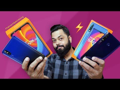 Tecno Spark 4 & Tecno Spark Go Unboxing & First Impressions ⚡⚡⚡ Decent Budget Smartphones