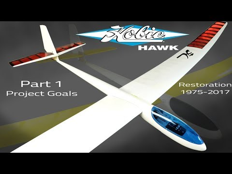 Vintage 1975 Hobie Hawk R/C Glider Restoration Process Part 1