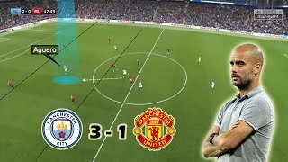 A Game of Attack vs Defense | Man City vs Man United 3-1 | Tactical Analysis | Guardiola vs Mourinho
