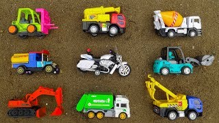 Learning Vehicles Names for Kids with Excavator, Crane Truck, Motorbike - F455C