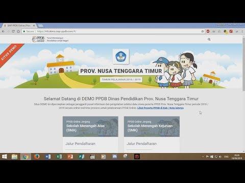 Tutorial PPDB Online 2018 - Pendaftaran Siswa