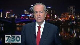 Opposition leader Bill Shorten discusses Labor's election promises | 7.30