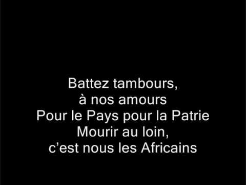 Les Africains Chant de France paroles