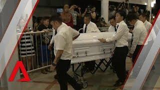 Aloysius Pang's casket arrives at MacPherson Lane