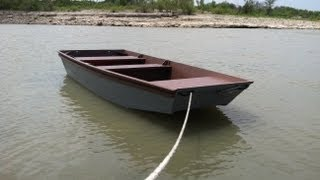 Homemade wooden boat