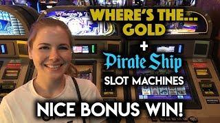 Max Bet! Nice BONUS Win on Wheres the GOLD! Slot Machine!