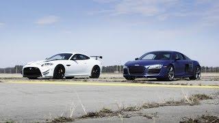 2014 Audi R8 V10 Plus vs. 2014 Jaguar XKR-S GT | STANDING MILE