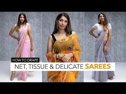 How To Style Net Sarees | Net Saree Tips