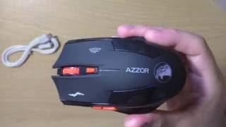 Игровая беспроводная мышь AZZOR со встроенным аккумулятором Посылка из Китая с Aliexpress(, 2016-08-04T12:08:22.000Z)