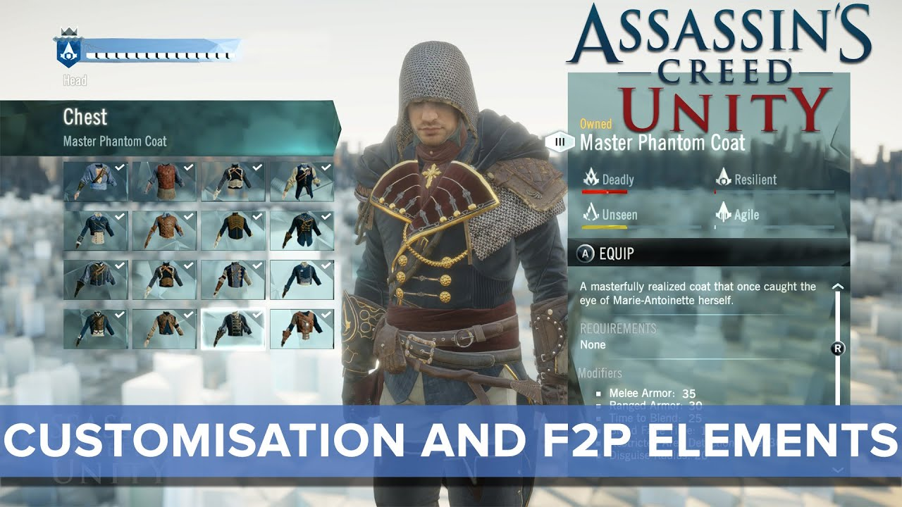 Assassin S Creed Unity S Customization May Be Its Killer Feature