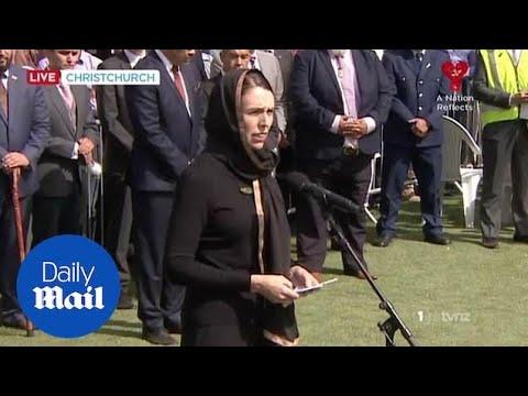 NZ PM Jacinda Ardern joins Muslim prayers outside Al Noor mosque