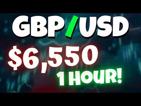 $6,000 Scalping GBP/USD In 1 HOUR!!!   FOREX TRADE RECAP