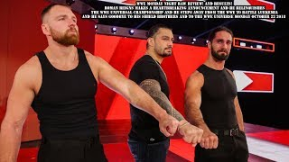 WWE Monday Night Raw Review! And Results! 10/22/2018 Roman Reigns Makes A Heartbreaking Announcement