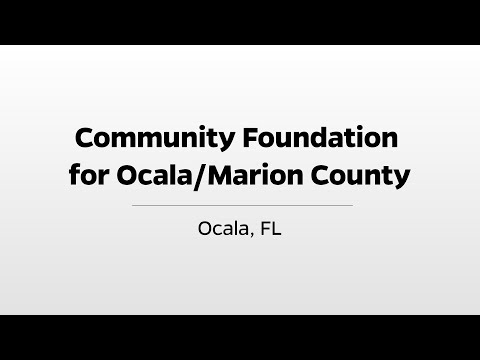 Download Community Foundation for Ocala/Marion County - WUFT's Greater Good
